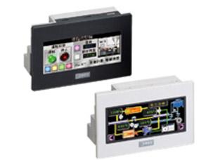 IDEC FT1A-M12RA-B SmartAXIS(スマートアクシス)シリーズ コントローラ 3.8インチSTNモノクロ液晶 タッチ機能付き 入出点数(デジタル6点/アナログ2点) 出力点数4点(リレー)  DC24V USB(A/miniB) RS232C RS422/485 Ethernet ダークグレー