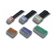 ニチフ QLX 3-BCL 安全 青透明 超安い 2点接触タイプ 差し込みコネクタ 50PCS