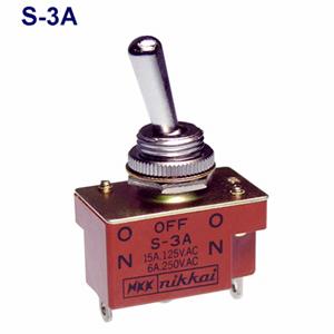 NKKスイッチッズ S-3A ストア 単極双投 端子はんだ 卓抜 CSA取得日本開閉器 抵抗負荷AC125V15A 規格:UL 小型トグルスイッチ