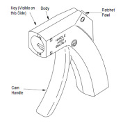 TE Connectivety (AMP)工具 58074-1 MANUAL HANDLE W/O HEAD