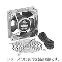 日東工業 PF-185 盤用換気扇(樹脂羽根・アルミ合金フレーム) AC100 リード線(2m) 角180x65mm フィンガーガード付き