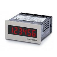 オムロン H7HP-AD トータルカウンタ/タイムカウンタ 48×24mm 6桁 DC12~24V 30Hz/5kHz(切替) EEP-ROMによるバックアップ ライトグレー ねじ締め端子