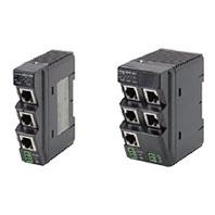 オムロン W4S1-05B 産業用スイッチングハブ ポート数5 IEEE 802.3 (10BASE-T/ 100BASE-TX) EtherNet/IP専用QoS 電源電圧DC24V 電源用コネクタ付き DINレール取付可