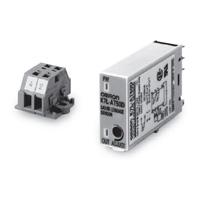 オムロン K7L-AT50 漏液位置検出器 アンプ DC12~24V 8ピン ねじ端子台ソケット用