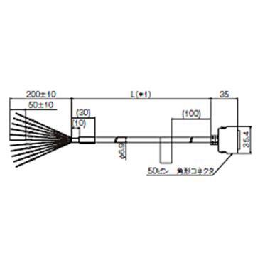 オムロン FZ-VP 2M 画像処理システム用 パラレルI/Oケーブル
