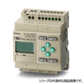 プログラムリレー ZENシリーズ ZEN-10C1DR-D-V2 CPUユニットLCDタイプ I/O点数10点 電源DC12-24 リレー出力