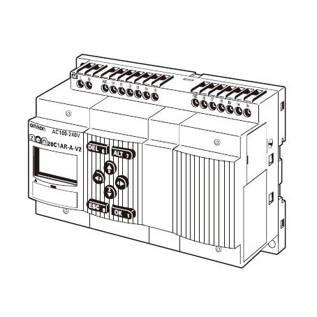 在庫品 オムロン ZEN-20C1AR-A-V2 プログラムリレー ZENシリーズ CPUユニットLCDタイプ I/O点数20点 電源AC100-240 リレー出力