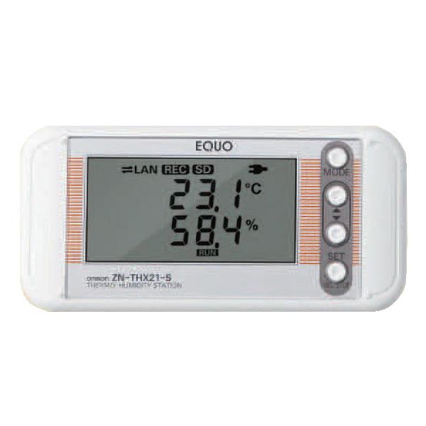 オムロン ZN-THX21-S 高精度温湿度ロガー (温湿度ステーション ) 測定範囲-25~+60℃、0~99%RH データ記録可(SDカード) W117.2×H56.8×D25.3mm LAN