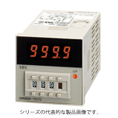 オムロン H5CN-XCN DC12-48 48×48mm 設定時間範囲 1s~5999s 出力1c 8Pソケットタイプ 表面取付、埋込取付共用 クォーツタイマ