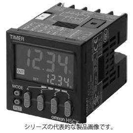 オムロン H5CX-L8D-N 48×48mm 設定時間範囲 0.001s~9999h AC24V/DC12~24V 50/60Hz 出力1c 8Pソケットタイプ デジタルタイマ