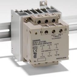 オムロン G3J-211BL DC12-24 三相モータ用ソリッドステート・コンタクタ 素子数3 絶縁方式 フォト・トライアック 電源電圧DC12~24V 適用モータ容量(AC3級)2.2kW AC200~220V DINレール取付可