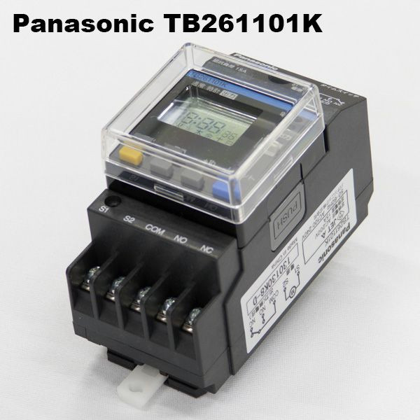 パナソニック TB261101K JIS協約型電子式タイムスイッチ(1回路型) 24時間式(別回路) 停電補償10年 AC100~240V