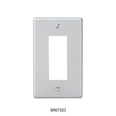 パナソニック WN7503 直送商品 1枚 フルコート加工 新金属プレート [再販ご予約限定送料無料] 3コ用