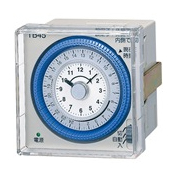パナソニック TB4501 パネル取付型 クォーツモータ式24時間式タイムスイッチ(1回路型) 接点構成1a(別回路) AC100-240V 停電補償180時間 外形寸法(mm)H75×W75×D55