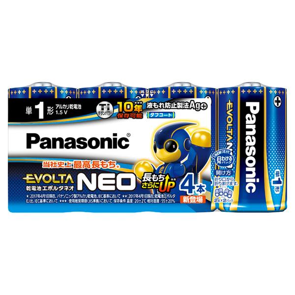 パナソニック LR20NJ 4SW 乾電池エボルタNEO 4本パック サービス 無料サンプルOK 単1形