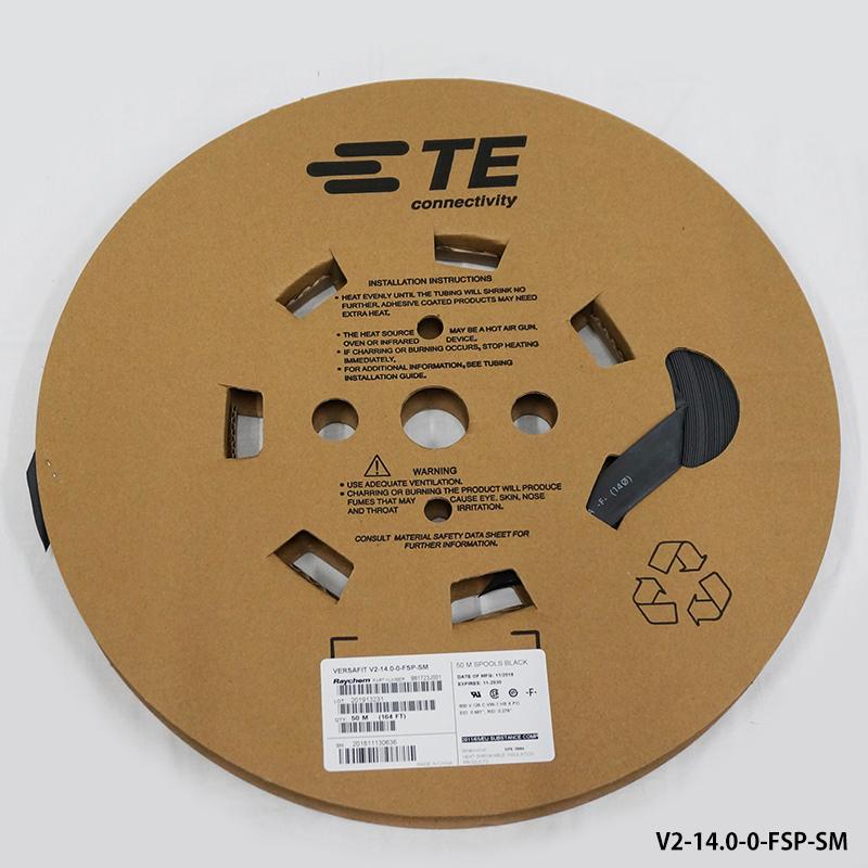 レイケム V2-14.0-0-FSP-SM 50mリール巻 黒色(VERSAFIT V2 14.0/ 7.00-0-SP)薄肉厚 熱収縮チューブ