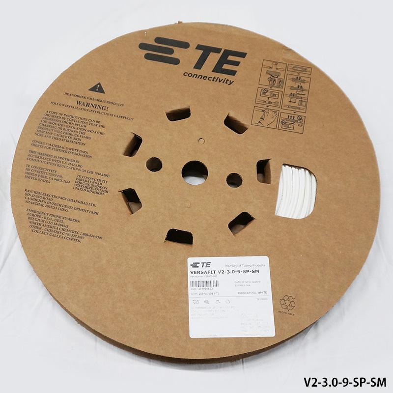 レイケム V2-3.0-9-SP-SM 200mリール巻 白色(VERSAFIT V2 3.0/ 1.50-9-SP) 薄肉厚 熱収縮チューブ