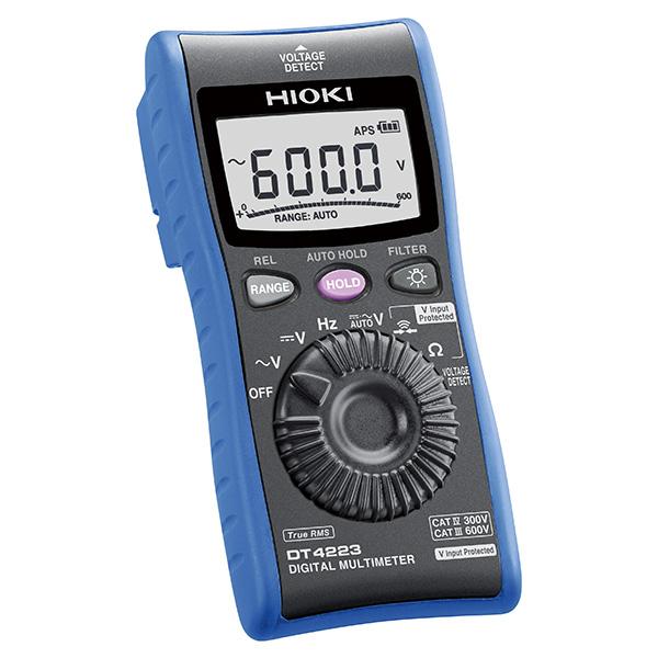 在庫品 日置電機 HIOKI DT4223 デジタル マルチメータ 電工現場向けポケットテスター 世界初の電圧入力保護機能付き安全テスター