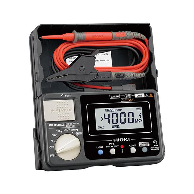 在庫品 日置電機 HIOKI IR4053-10 太陽光発電システム用 絶縁抵抗計 5レンジ スイッチなしリード付属(L9787)