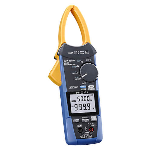 在庫品 日置電機 HIOKI CM4375 AC/DC クランプメータ 非常に薄いセンサでケーブルの隙間に入れやすい設計 交流/直流を自動で判別、1000Aまで測定可能