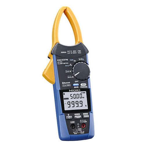 日置電機 HIOKI CM4376 Bluetooth(R)対応AC/DC クランプメータ 非常に薄いセンサでケーブルの隙間に入れやすい設計 交流/直流を自動で判別、1000Aまで測定可能