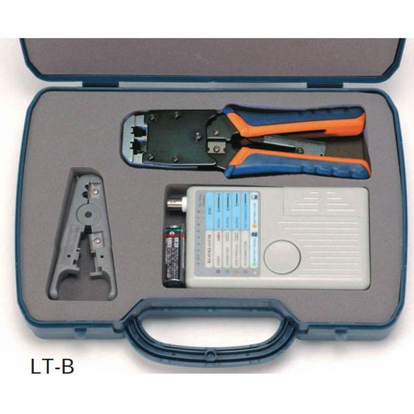 セール特別価格 ユーボン LT-B LANケーブル加工用工具セット 導通テスタ付き UTPケーブル製作用の基本ツールをセットにいたしました 即納
