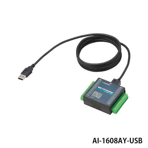コンテック AI-1608AY-USB USB2.0対応 アナログ入力 USB I/Oユニット 8ch(16bit 100ks/s)