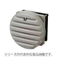 日東工業 WLP-8K-2 換気扇付丸形防水ルーバー・フィルタ付 φ80 ライトベージュ色 AC200