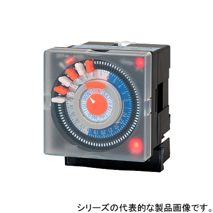 在庫品 スナオ電気 ETS-703P クオーツモーター式アナログ カレンダータイマ DIN-72×72、DINレール使用又パネル型 フリー電源(AC85V~AC230V) 停電補償付き