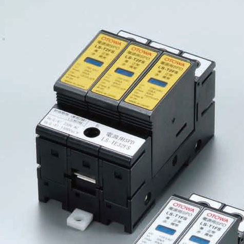 音羽電機工業 LS-TE32FS 電源用SPDLSシリーズ 対地間(L-E間)単相3線100/200V・三相3線200V 自動切離装置付き 劣化接点出力端子付き