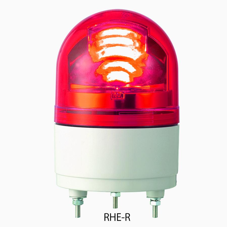 パトライト RHE-100-R LED回転灯 φ100 AC100V 赤