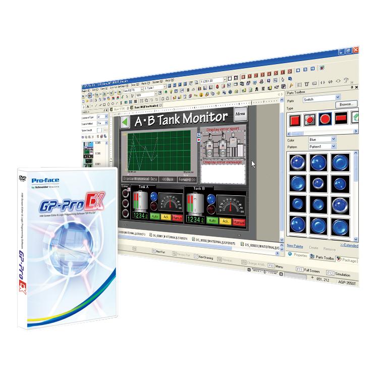 シュナイダー PROFACE PFXEXEDV40 画面作成 大放出セール ロジックプログラムソフトウェア GP-Pro 超定番 EX Ver.4.08