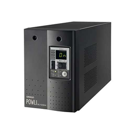在庫品 BU100SW オムロンUPS(OMRON) 無停電電源装置(常時インバータ給電)電源変動の激しい場所にも対応 1000VA/700W:縦置