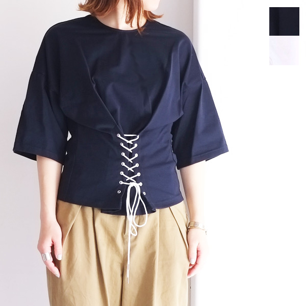 【70%OFF】【SALE】【送料無料】hiromithistle フロント 編み上げ カットソー【ヒロミシスル】【7771812】【日本製】
