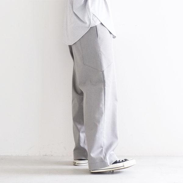 【30%OFF SALE】 bagsy バグジー ストレート パンツ 太め ポケット付き gray