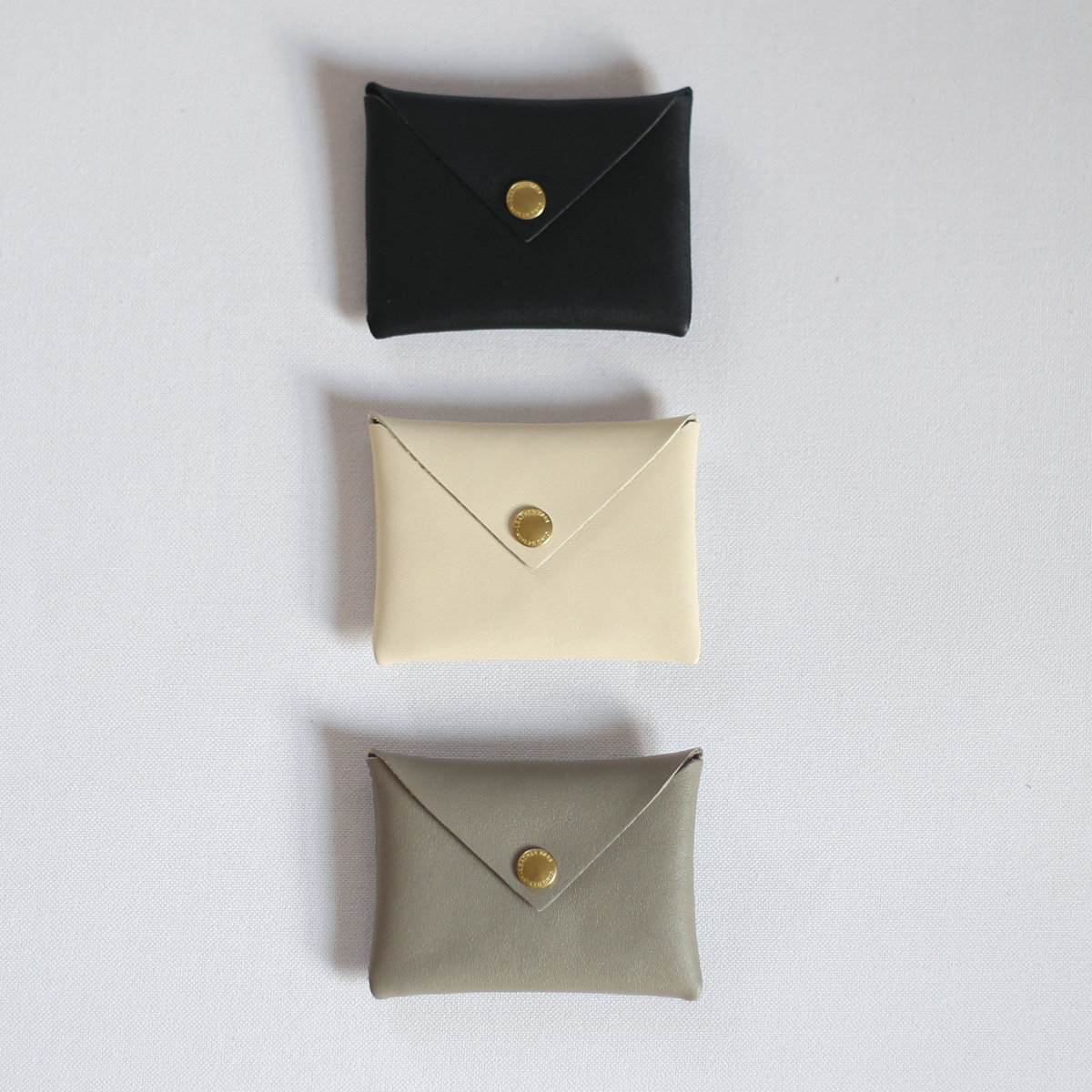CINQ サンク スナップユニット財布 激安超特価 カードケース アイボリー グレー 特別セール品 ブラック