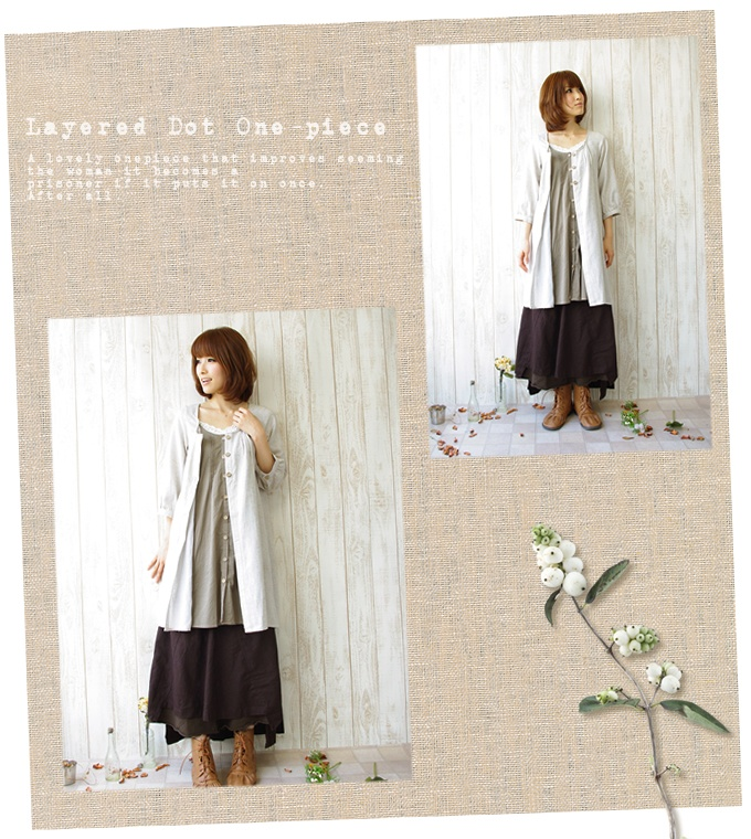 Shirt-dress fs3gm of the good quality linen cotton which was particular about the * subject matter that the lei yard of the dot pattern to show in the shirt dress dot inside was lovely mature