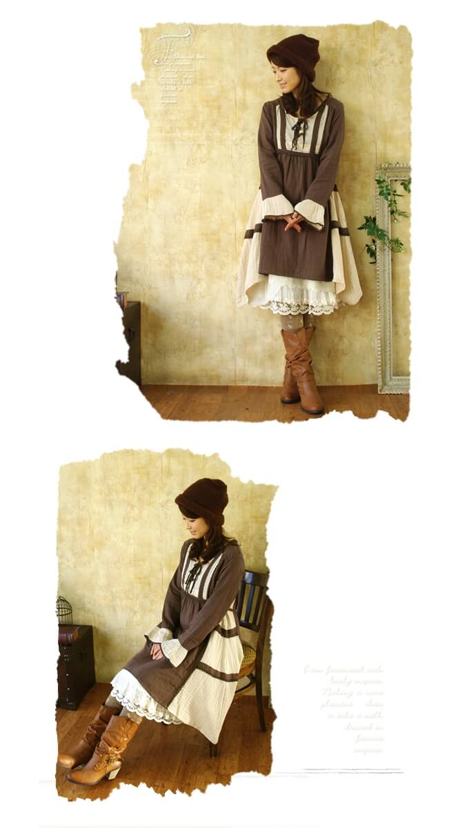 A line of beautiful floral embroidery * with luxurious antique lace one-piece natural Favorite original ** medieval European towns looking at one piece ( ZLB904 ) fs3gm