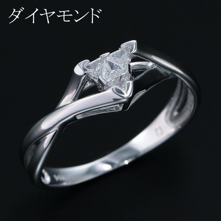 【返品可能】 天然ダイヤモンド ダイヤモンド ダイヤ 14K リング 推定0.12ct diamond 無処理 【中古】