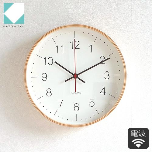 ドットを採用した指標で上品に 掛け時計 おしゃれ 北欧 見やすい 電波 電波掛時計 ギフト お祝い クーポン対象 9 13 10:59まで 加藤木工 カトモク 曲木時計 KM-75NRC plywood 購入 wall clock 定番から日本未入荷 KATOMOKU ナチュラル 木製 日本製 電波時計 連続秒針 スイープムーブメント 壁掛け 掛時計