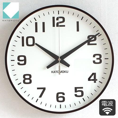 【クーポン配布中】 加藤木工 カトモク KATOMOKU plywood wall clock 15 ブラウン 掛時計 壁掛け スイープムーブメント 連続秒針 電波時計 木製 日本製 曲木時計 KM-92BRC