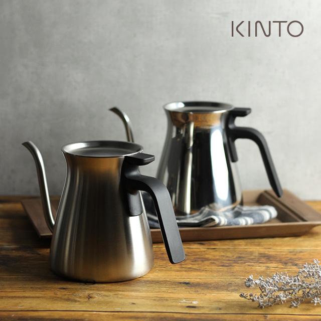 KINTO キントー プアオーバーケトル 900ml(ケトル おしゃれ やかん コーヒー ステンレス おすすめ コーヒー用 ポット ブランド スタイリッシュ 細口 ドリップ ギフト)