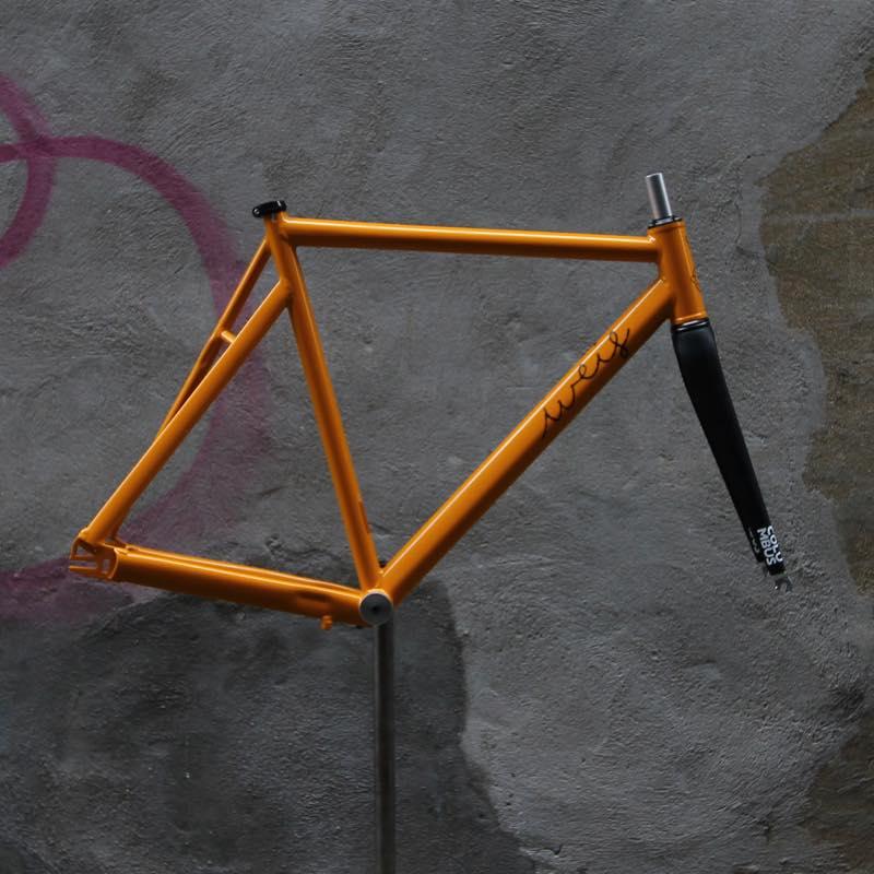 ピストバイク フレーム Weis Manufacturing Hammer Aluminum YEL ウェイスマニュファクチュアリング ハマー アルミ イエロー PISTBIKE