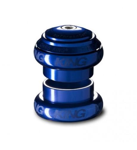 ピストバイク ヘッドセット CHRIS KING NOTHREAD HEADSET 1 1/8 INCH BLUE クリス キング ノースレッド ヘッドセット 1 1/8 インチ ブルー PISTBIKE