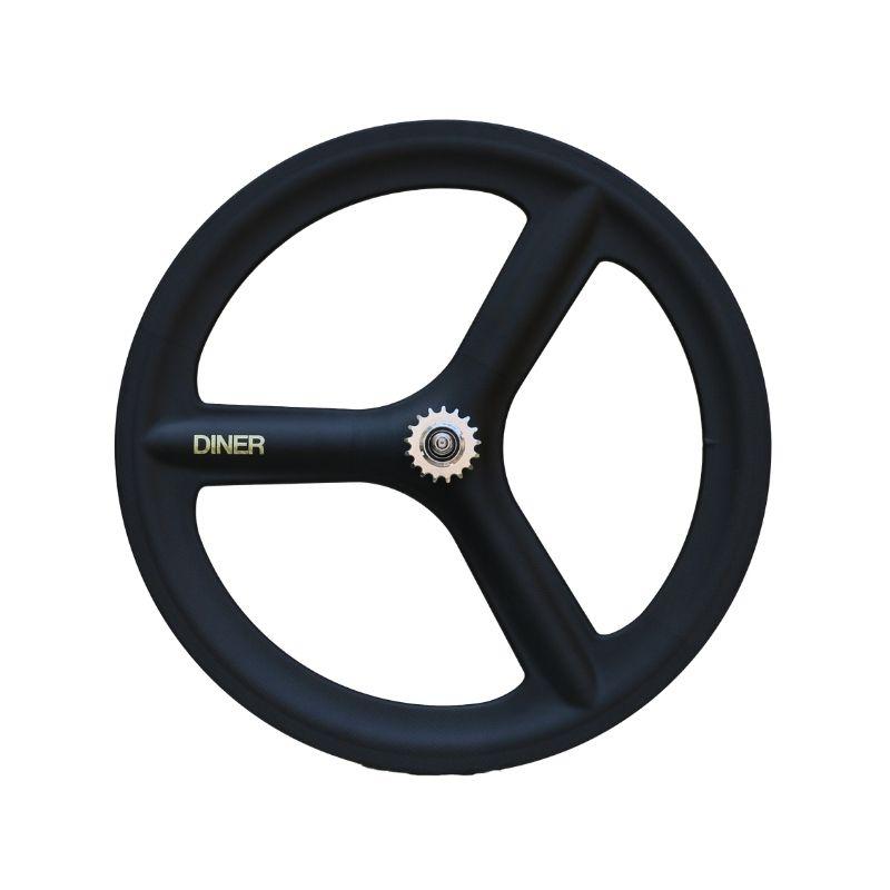 ピストバイク ホイール DINER 3SPOKE CARBON CLINCHER WHEEL REAR 3スポーク カーボン クリンチャー ホイール リア PISTBIKE