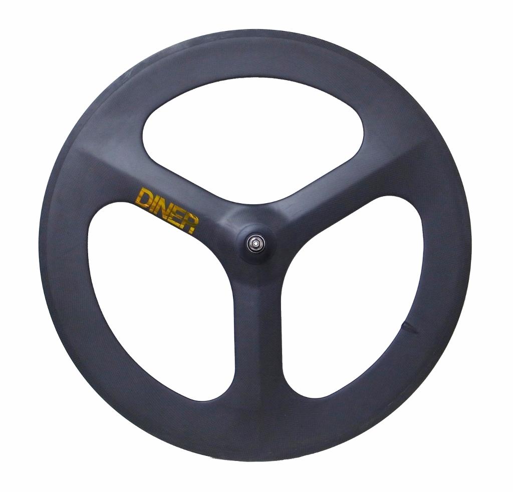 ピストバイク ホイール DINER ダイナー 3SPOKE CARBON CLINCHER WHEEL FRONT スリーバトン カーボン クリンチャー ホイール フロントPISTBIKE