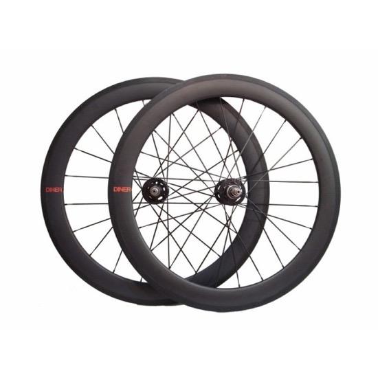 ピストバイク ホイール DINER 60mm CARBON CLINCHER WHEEL FRONT&REAR ダイナー 60mm カーボン クリンチャー ホイール フロント&リア PISTBIKE