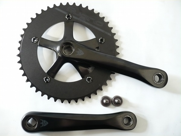 ピストバイク クランクセット SUGINO スギノ COOL-MESSENGER Black 170mm ブラック5ピン付き クールメッセンジャー 170mmブラック5ピン付き PISTBIKE