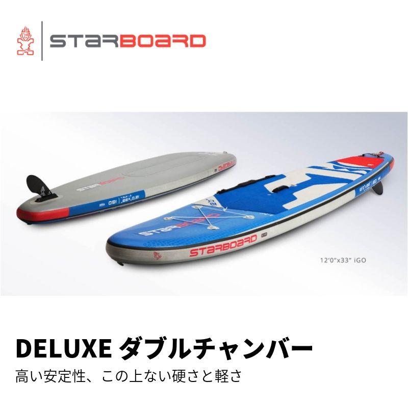 【送料無料】SUP インフレータブル サップ 2020 STARBOARD iGO DELUXE DOUBLE CHAMBER 12'0