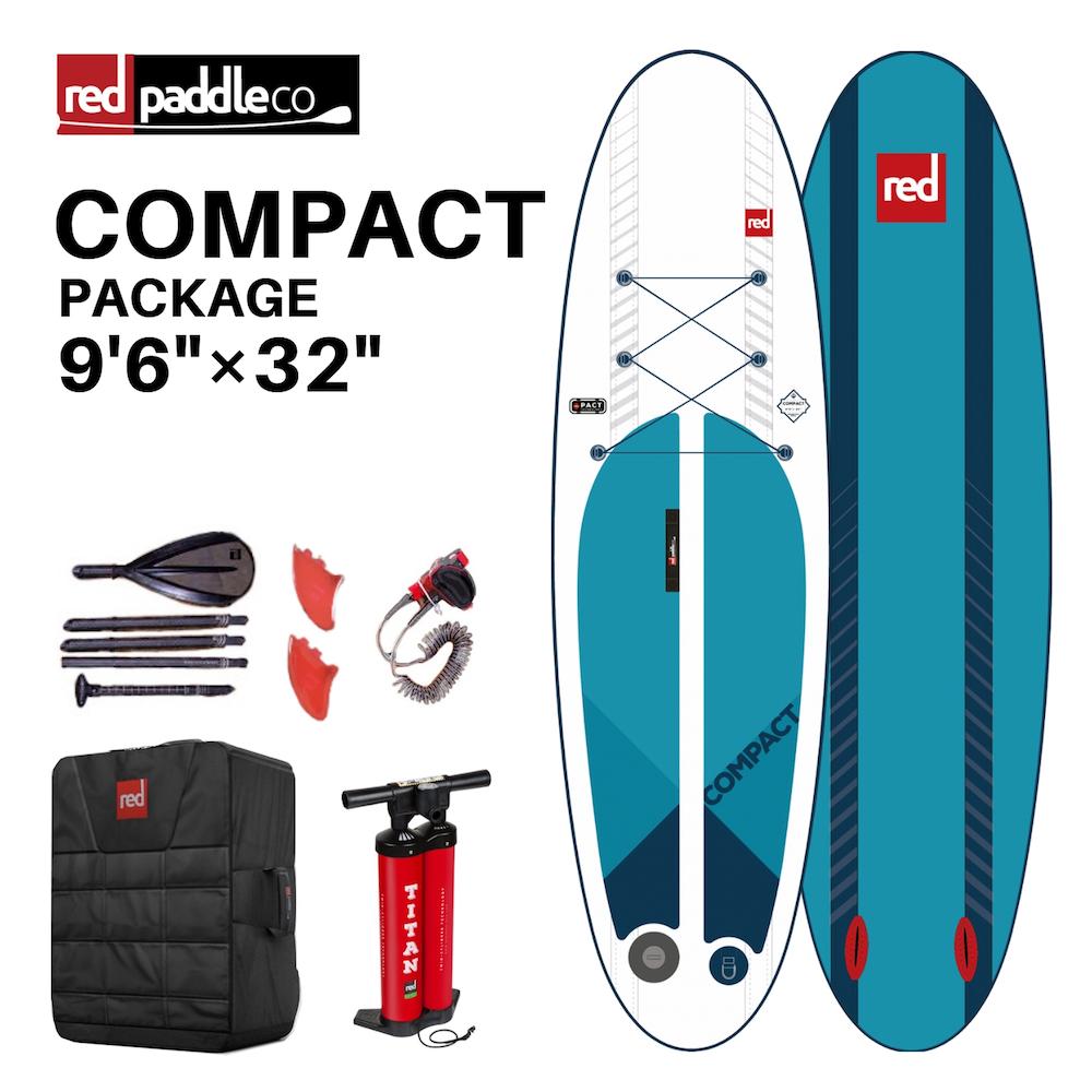 【送料無料】SUP インフレータブル サップ 2019 RED PADDLE COMPACT 9'6